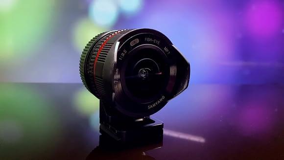 Lente Samyang / Rokinon 7,5 mm para MFT (Convertido a Sony), lente fisheye, ojo de pez