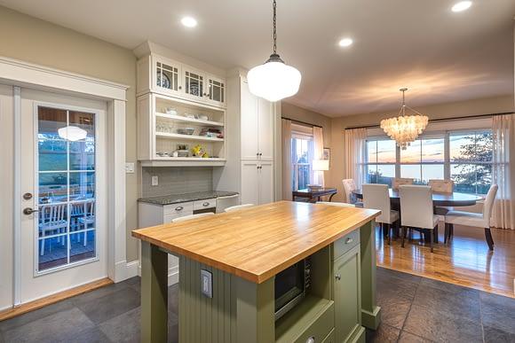 Isla Central en cocina, casa para la venta en New Brunswick, Canadá