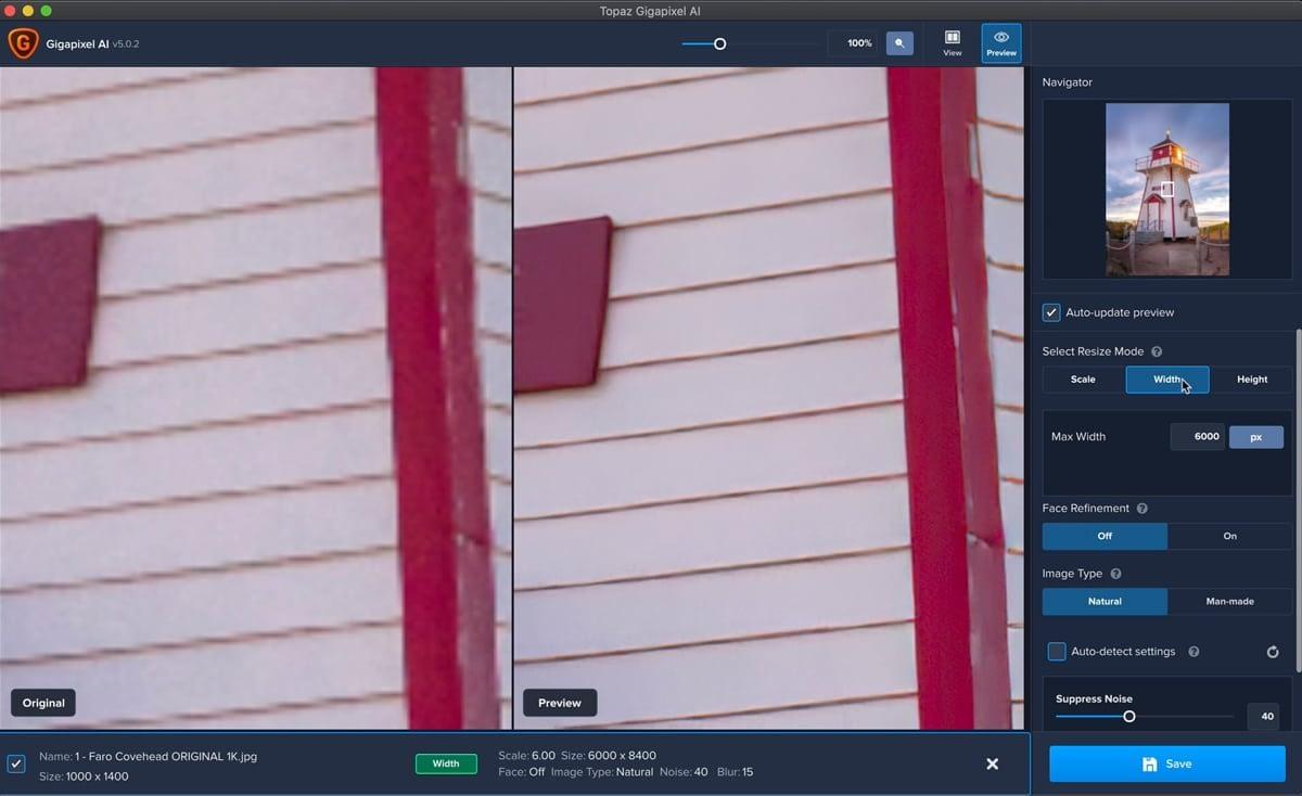Topaz Gigapixel AI: programa para redimensionar imagenes y fotografías con Inteligencia Artificial