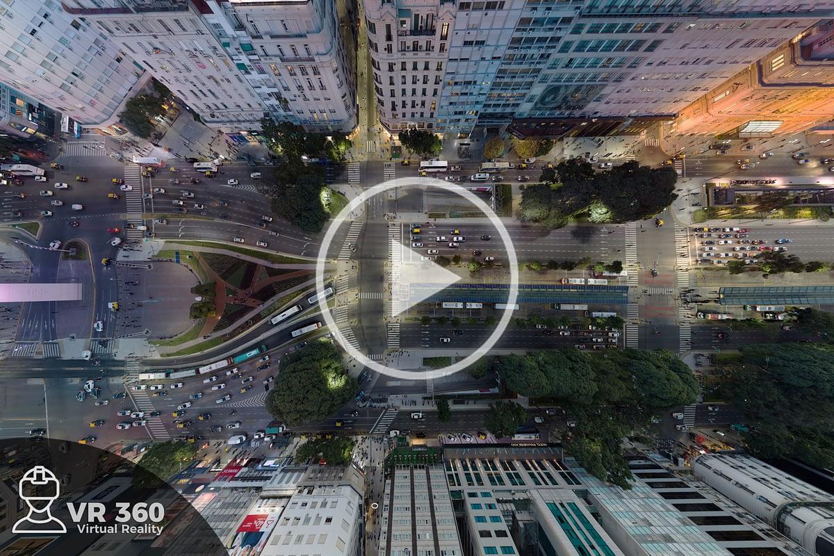 Fotografía Aérea 360  Avenida en Buenos Aires