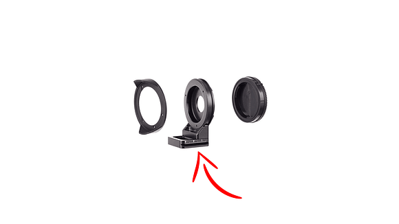 Kit de conversión montura MFT Micro Cuatro Tercios a Sony del lente Samyang 7,5 mm fisheye por Nodal Ninja