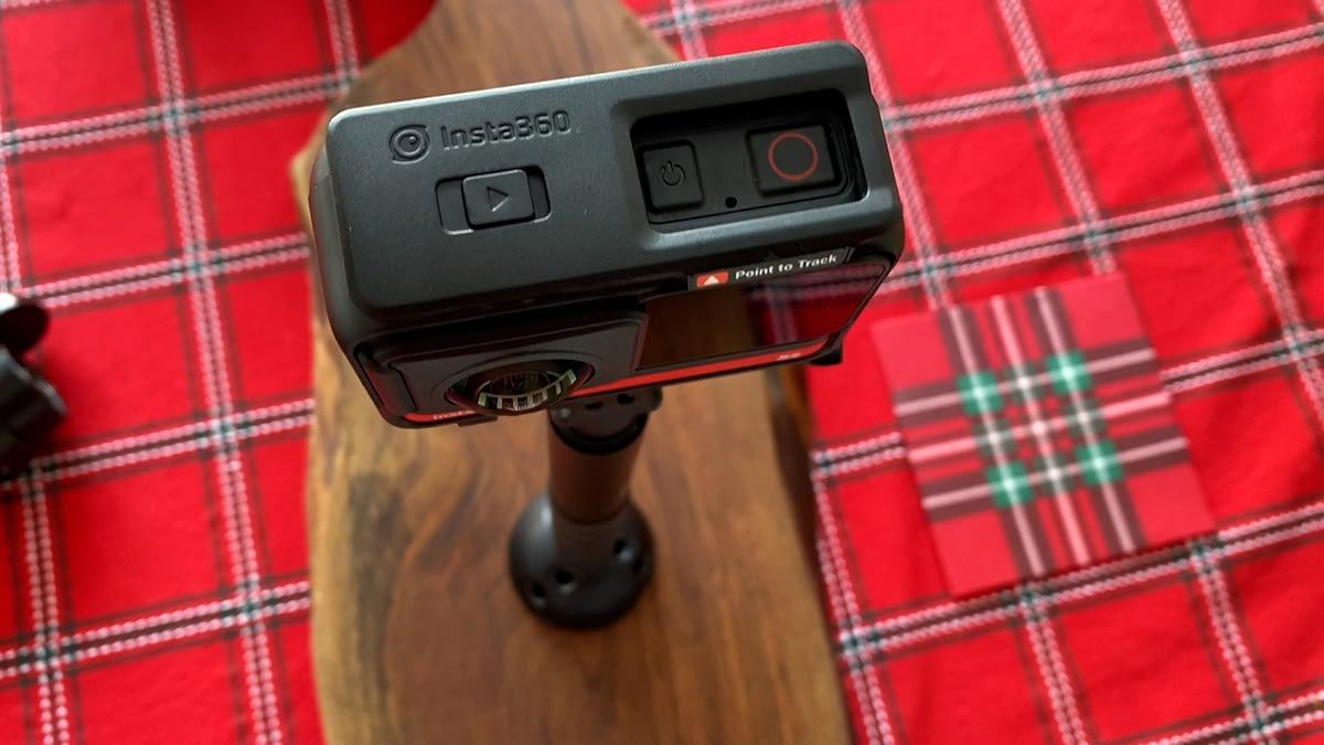 Insta360 montada sobre la base de Freedom360