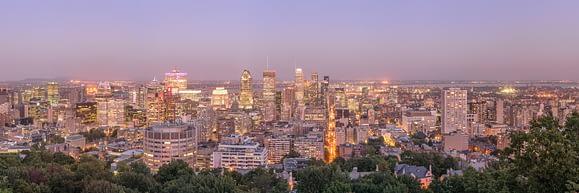 Vistas preciosas desde el mirador de MontRoyal, en Montréal