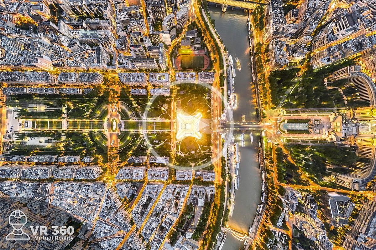Fotografía Aérea 360 Torre Eiffel