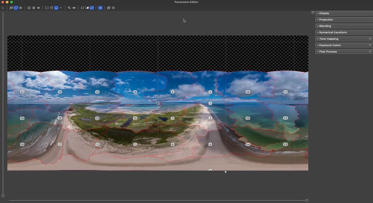 PTGui 12 reconoce la posición automáticamente de las fotos que conforman la panorámica