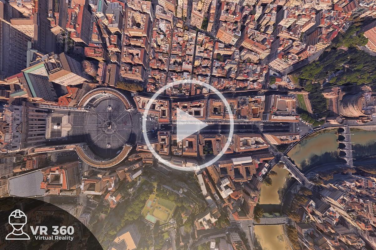 Fotografía Aérea 360 en el Vaticano
