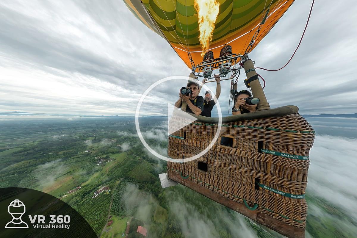 Fotografía Aérea 360 desde un globo