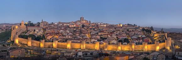 Atardecer en las Murallas de Ávila