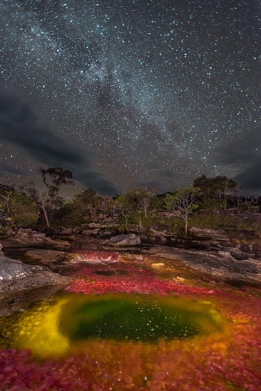 Vía Láctea en Caño Cristales