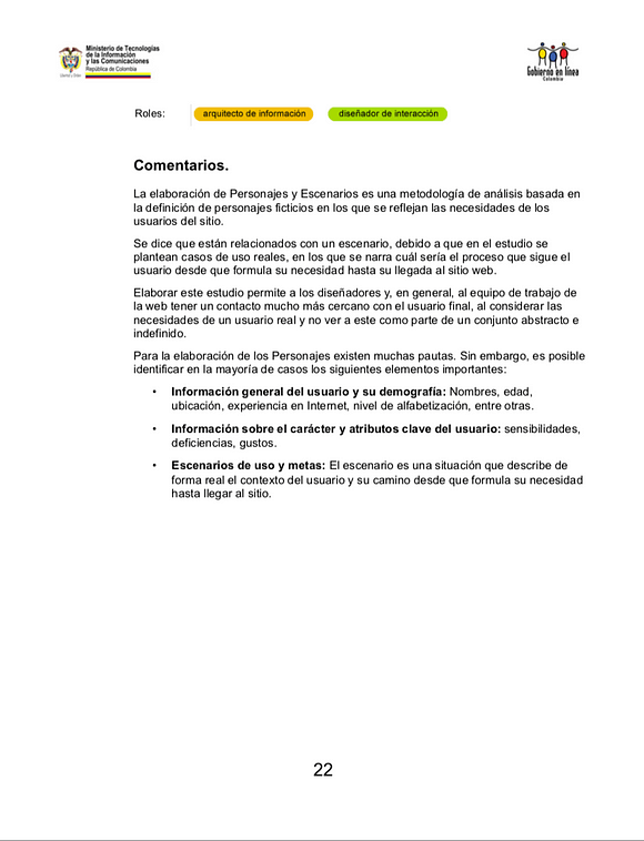Directrices de Usabilidad Páginas Web PDF (Pág 22)