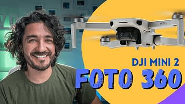 DJI Mini 2 para fotografía aérea 360 panorámica esférica, análisis de Mario Carvajal