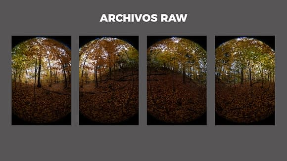 Archivos RAW para que aprendas cómo hacer fotos 360 interactivas