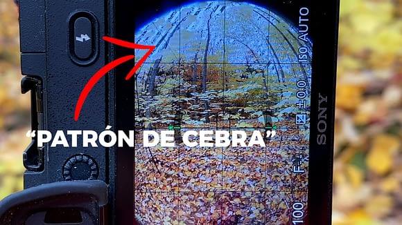 """El """"Patrón de Cebra"""" en la Sony a6300 ayuda a definir la exposición correcta de la fotografía 360"""