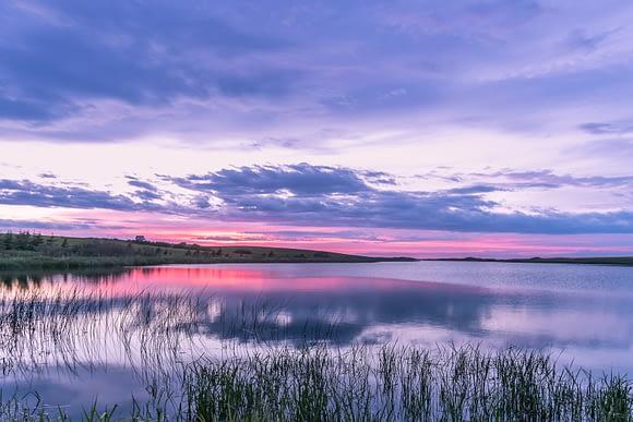 Atardecer en el Lago de las Aguas Brillantes