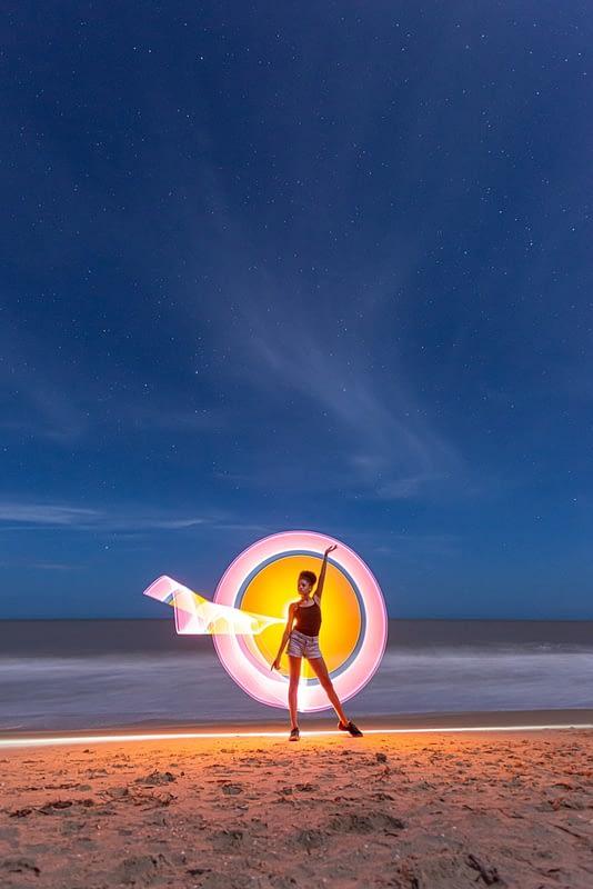 Lightpainting en Playa Camarones